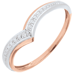 wedding Ring Precious Wings - Pink gold