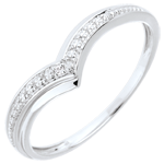 jewelry Ring Precious Wings - White gold