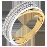 Ring Rich Saturn - 18 karaat witgoud en geelgoud