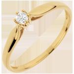 verkopen Ring Riet 6 Diamanten klauwen - 0.05 karaat