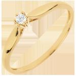 Ring Riet 6 Diamanten pootjes - 0.05 karaat - 18 karaat geelgoud