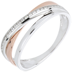 weddings Ring Rings variation - rose gold. white gold and diamonds