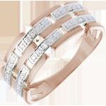 Goldschmuck Ring Rot- und Weißgold mit Diamanten
