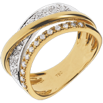 sell on line Ring Royal Saturn variation - yellow gold, white gold