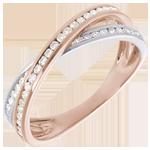 Ring Roze Goud Diamanten