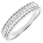 Ring Salty Flower - two rings - white gold - 18 carat