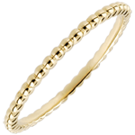 gift woman Ring Salty Flower - yellow gold - 9 carat