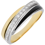 on-line buy Ring Saturn Diamond - black lacquer and diamonds