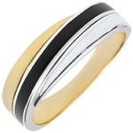 gift woman Ring Saturn - duo lacquers - 18 carat