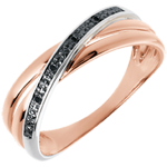 sell Ring Saturn Duo variation - rose gold and diamonds - 18 carat