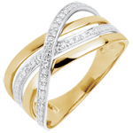 buy on line Ring Saturn Quadri - yellow gold - 18 carat