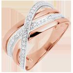 Koop Online Ring Saturnus Vierling - roze goud - 9 karaat