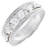 Goldschmuck Ring Schicksal - Byzantine - Weißgold und Diamanten - 18 Karat