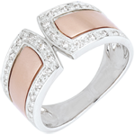 Geschenke Frau Ring Schicksal - Kaiserlich - Rotgold, Weißgold und Diamanten