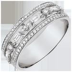 Juwelier Ring Schicksal - Kleine Kaiserin - 68 Diamanten - Weißgold 9 Karat