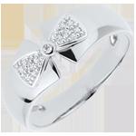 Geschenke Ring Schleife Amelia in Weißgold