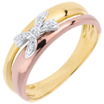 Juweliere Ring Schleife mit Liebe zu Tricolor