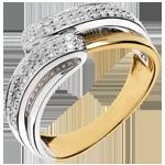 Geschenk Frauen Ring Serenity Gelbgold - 56 Diamanten - 0.28 Karat