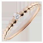 cadeaus Ring Solitair Roze Gouden Bonbons - 0.05 karaat