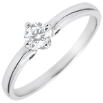 gift woman Ring Solitaire - Ivy Button - 0.21 carat - 18 carat