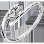 Ring Solitaire Liefdesnest - Orion - 9 karaat witgoud - Diamant 0.07 karaat
