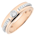 Ring Solitaire Promise - rose gold and diamonds