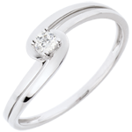 Ring Solitaire Silly - 18 karaat witgoud