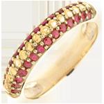 Geschenk Frau Ring Spanien - Gold mit Edelsteinen