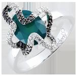 online kaufen Ring Spaziergang der Sinne - Medusa - Silber, Diamanten und Halbedelsteine