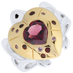 online kaufen Ring Spaziergang der Sinne - Schildkröte der Liebe - Silber und Halbedelsteine