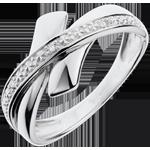 Geschenk Frauen Ring Stammesschmuck- Weißgold mit Diamanten