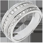 Geschenke Frauen Ring Sternbilder - Milchstraße - 0.7 Karat - 43 Diamanten