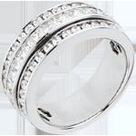 Online Verkauf Ring Sternbilder - Milchstraße - Weißgold Pavage - 1.46 Karat - 43 Diamanten