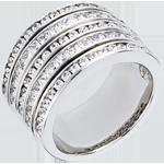 Goldschmuck Ring Sternbilder - Milchstraße - Weißgold Pavage - 2.42 Karat - 81 Diamanten