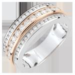 Ring Sterrenbeeld - Melkweg - roze goud - 0,63 karaat - 52 diamanten - 18 karaat