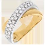 Ring Tandem betegeld - 0.26 karaat - 26 Diamanten
