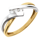 Ring Trilogy Precious Nest - 2 golds - 3 diamonds