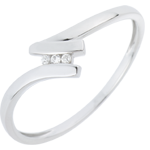 on-line buy Ring Trilogy Precious Nest - Serena - white gold - 18 carats