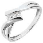 Ring Trilogy Precious Nest - white gold - 3 diamonds