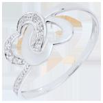 Juwelier Ring Verbundenheit Zweier Herzen Bicolor