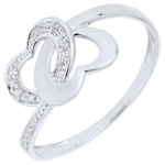 Geschenk Frauen Ring Verbundenheit Zweier Herzen Bicolor