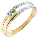 Juweliere Ring Vereinigung bicolor