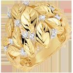 Juweliere Ring Verzauberter Garten - Edle Tautropfen - Gelbgold