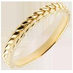 Verkauf Ring Verzauberter Garten - Flechtwerk - Gelbgold - 9 Karat