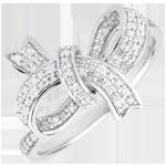 Ring Wertvolle Schleife - Silber und Diamanten