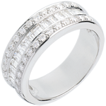 Ring Zauberwelt - Kronprinzessin -Weißgold mit Diamantpavé - 0.88 Karat - 44 Diamanten