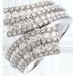 Ring Zauberwelt - Schärpe mit Diamantpavé - Weißgold - 1.1 Karat - 108 Diamanten