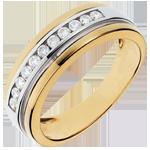Geschenke Frauen Ring Zauberwelt - Sonnenlicht - 0.24 Karat - 11 Diamanten