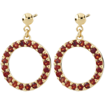 Roseline Garnet Earrings