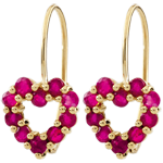 Rosie Ruby Heart Earrings